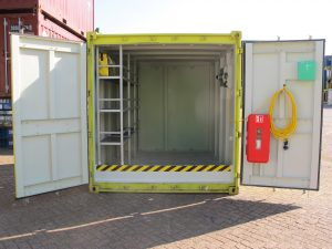 10ft closed offshore container met vaste stelling